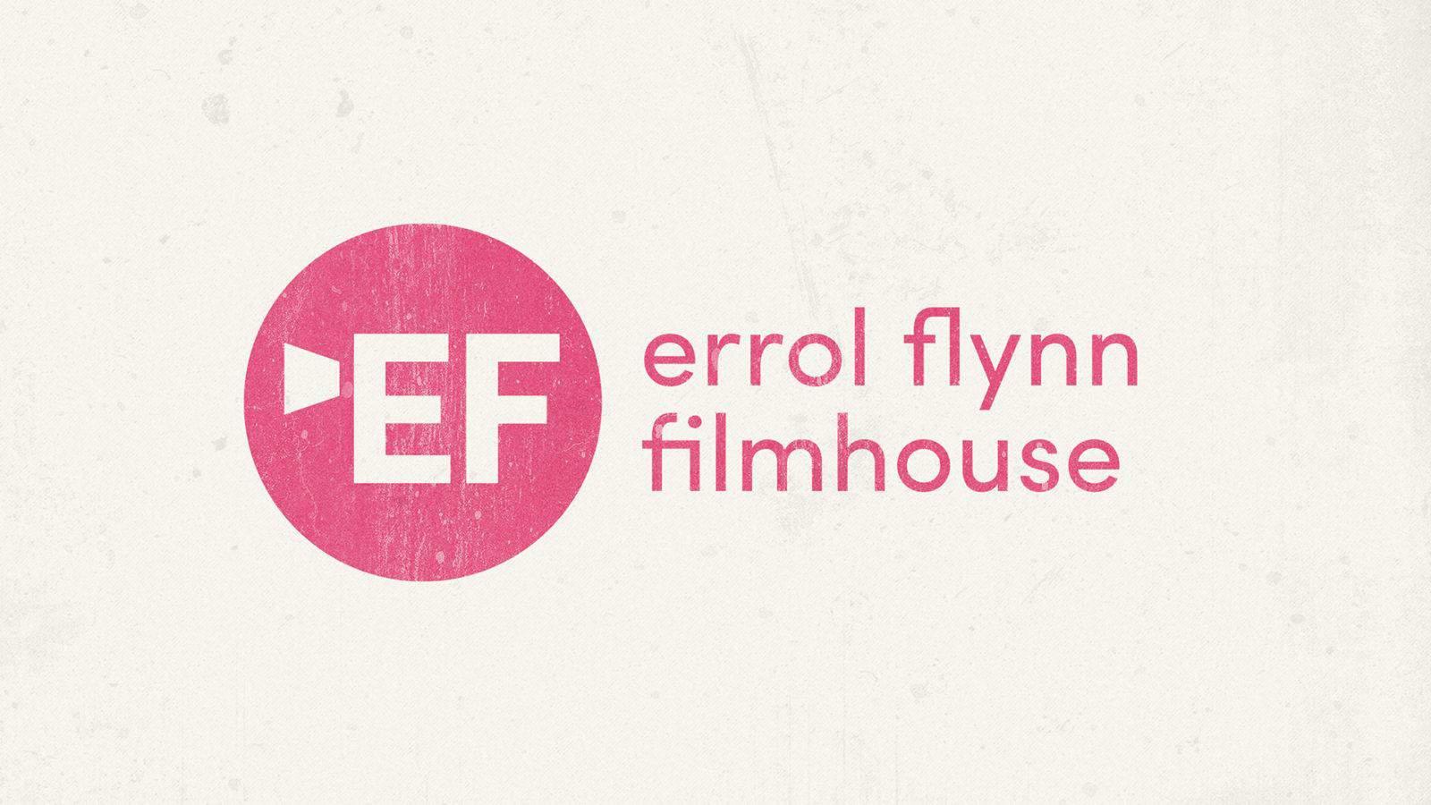 Royal & Derngate - Errol Flynn filmhouse logo branding