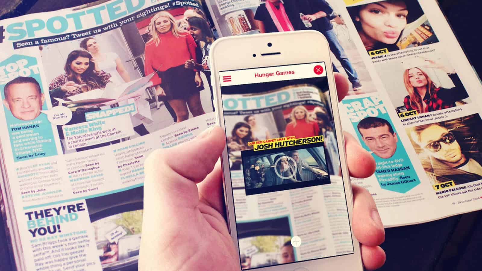 Heat magazine AR app