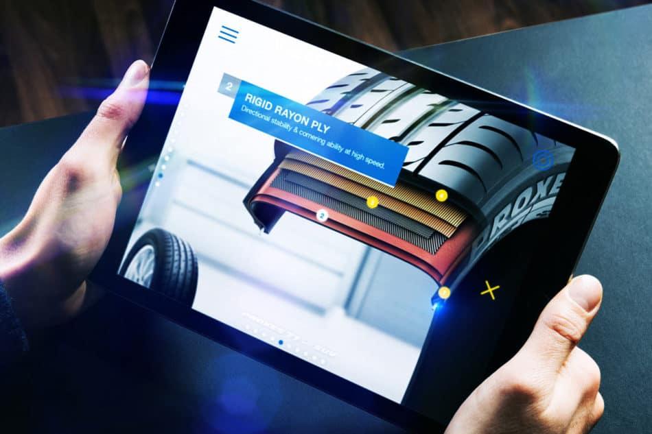 Toyo Tires enhanced sales tool app