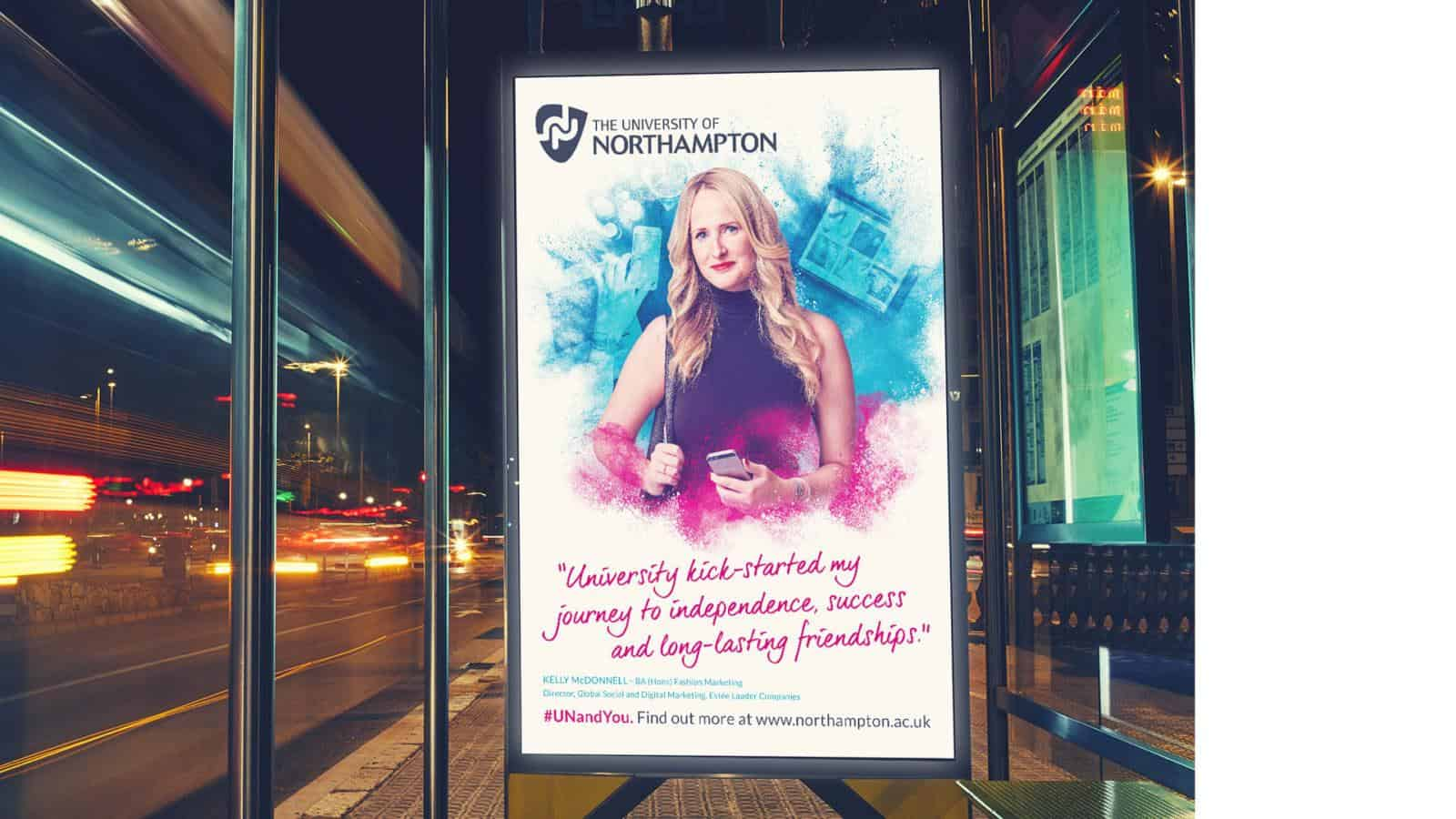 University of Northampton outdoor advertising